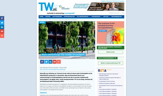Article technischweekblad.nl