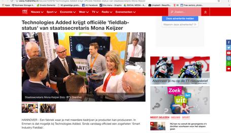 Publication on www.rtvdrenthe.nl april 2018