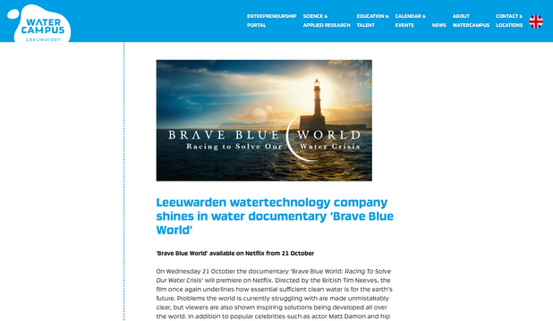 Article watercampus.nl