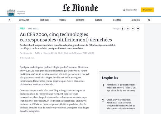 Article lemonde.fr