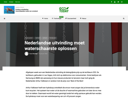 Article ecotoday.nl