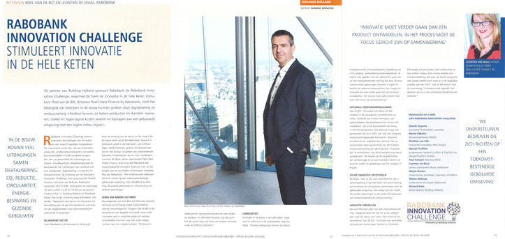 Article Building Holland Rabo Innovation Challenge