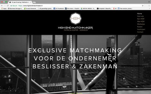 Webdesign High End Matchmaker