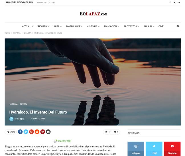 Article eolapaz.com