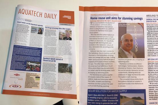 Aquatech Daily 2 Nov 2017
