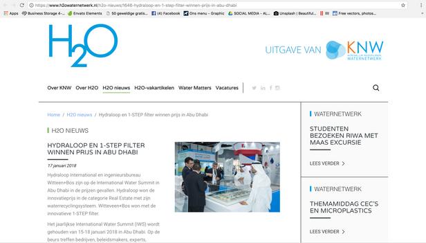 H2O waternetwerk 16 Jan 2018