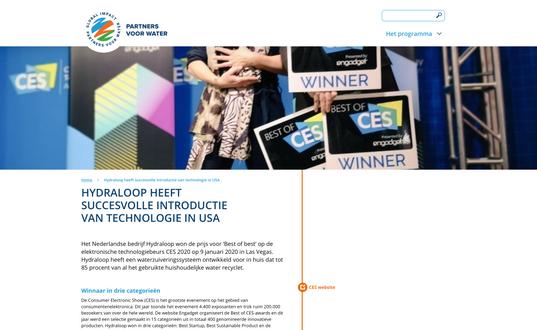Article partnersvoorwater.nl