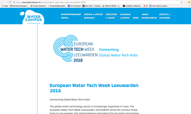 Article Watercampus.nl Sept. 2018