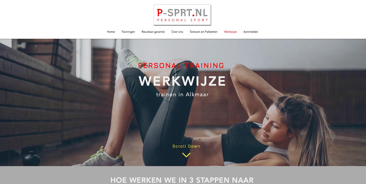 Website creatie en ontwikkeling P-SPRT.NL