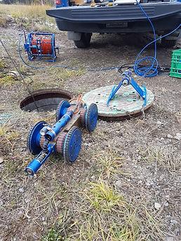 Catch basin camera inspection Calgary