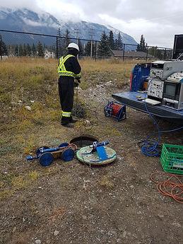 Sewer manhole camera inspection Calgary