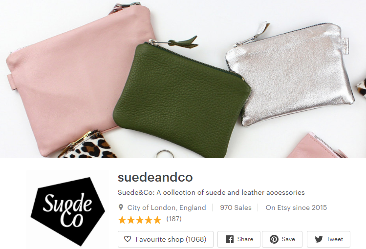 Suede&Co Etsy About Story