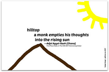 hilltop haiku Adjei Agyei-Baah