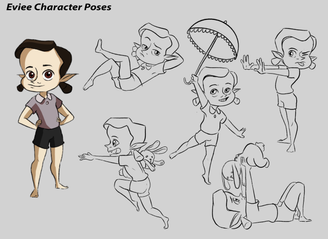 Eviee Character Poses