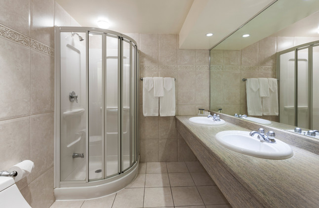 Presidential suite bath & shower