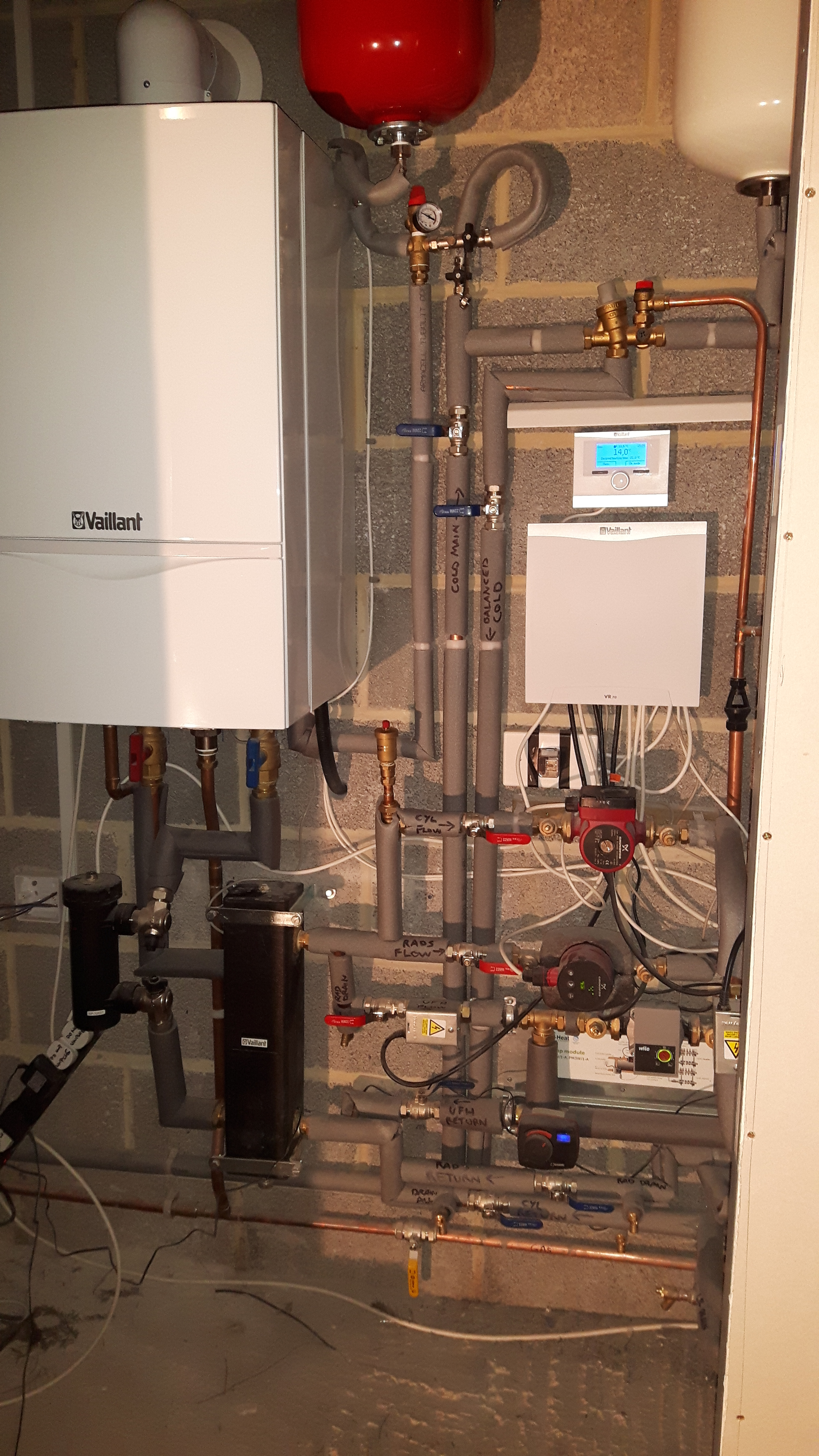 Vaillant 46kW Boiler Plant Room