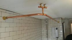 Custom Copper Shower Rail