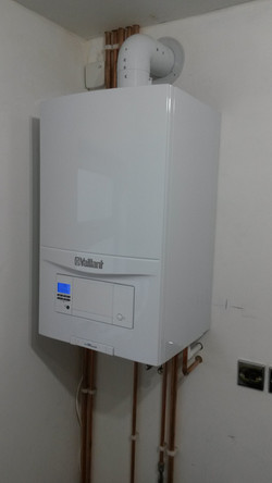 Vaillant combi with stand-off kit
