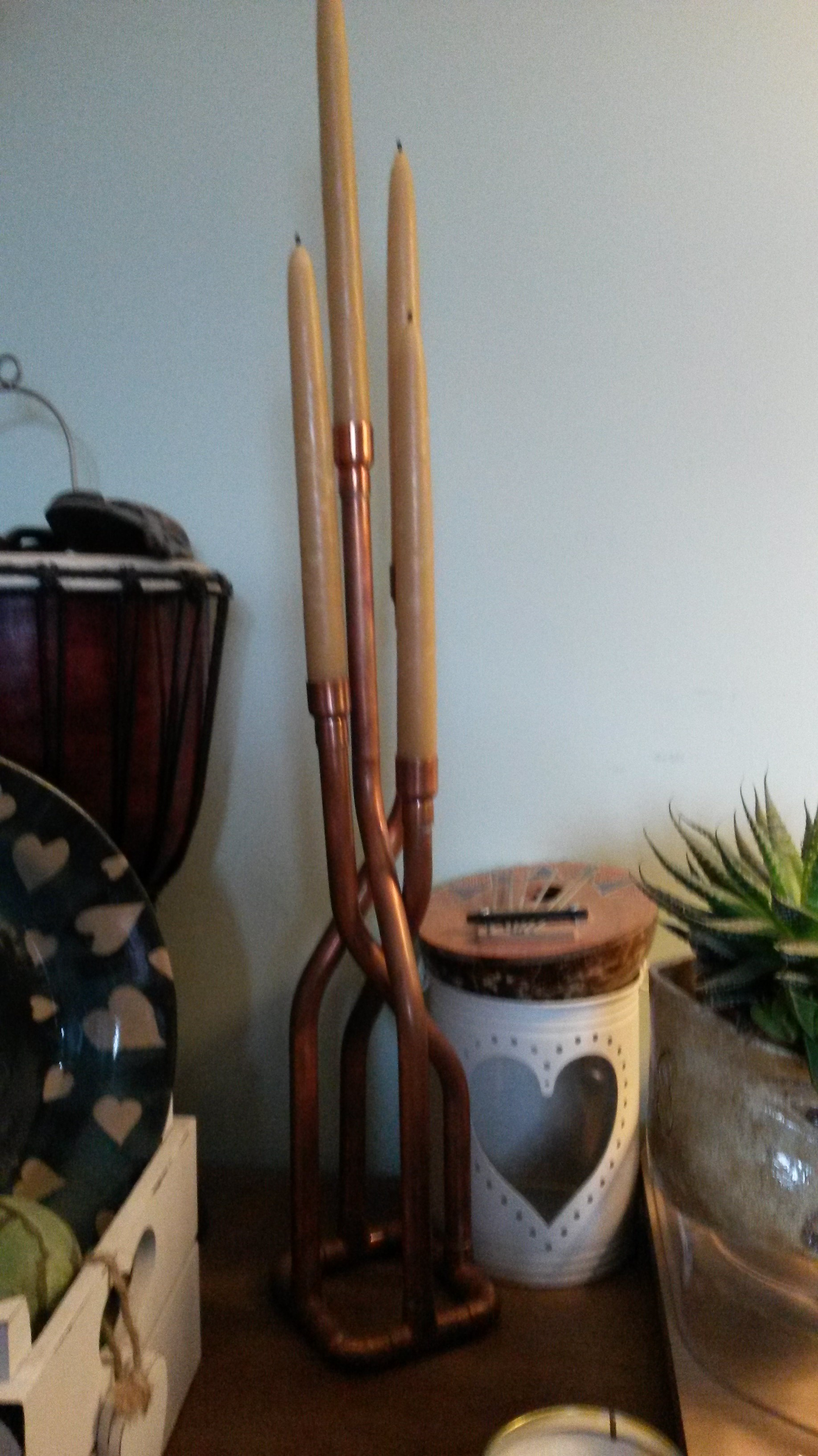 Custom Copper Candlestick Holder