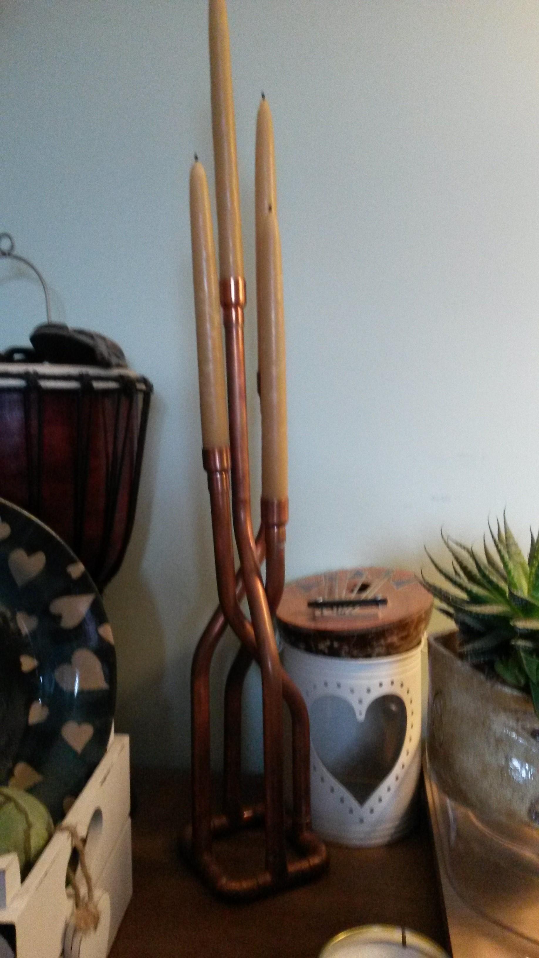 Custom Copper Candlestick Holder