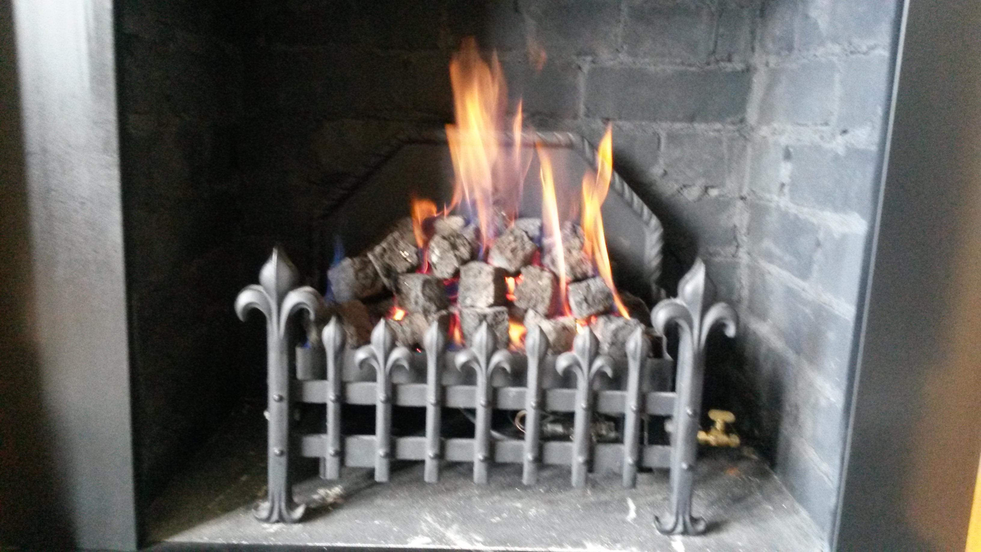 Decorative Coal Effect Basket Fire