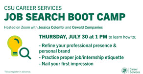 Resources for Job Search Boot Camp:  Professional Presence on 7/30