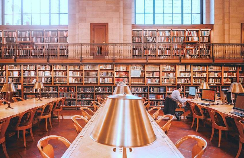 A large library