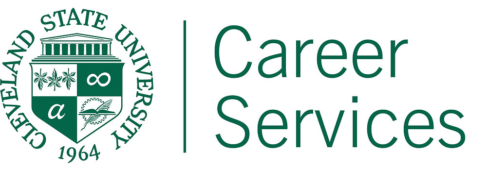 CSU seal Career Services logo in CSU green.