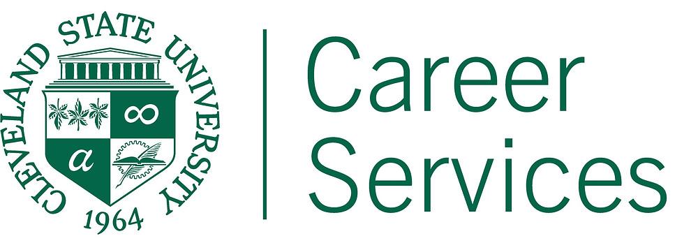 CSU seal Career Services logo in CSU green.