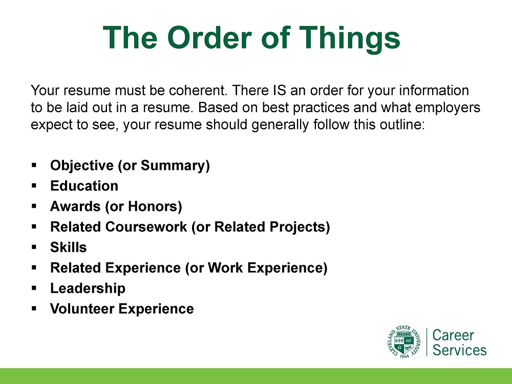Job search boot camp: All about resumes Spring 2020 presentation slide