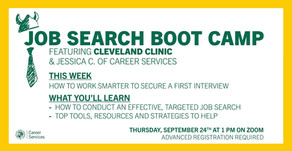 Resources for Job Search Boot Camp: How to work smarter to secure your first interview on 9/24