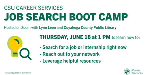 Resources for Job Search Boot Camp: How to search for a job on 6/18