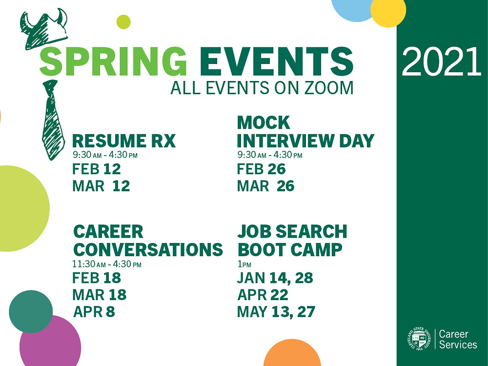 Spring events 2021 graphic