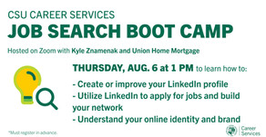 Resources for Job Search Boot Camp:  LinkedIn on 8/6
