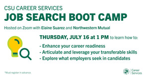 Resources for Job Search Boot Camp:  Transferable Skills on 7/16