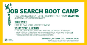 Resources for Job Search Boot Camp: How to nail your interview on 10/1