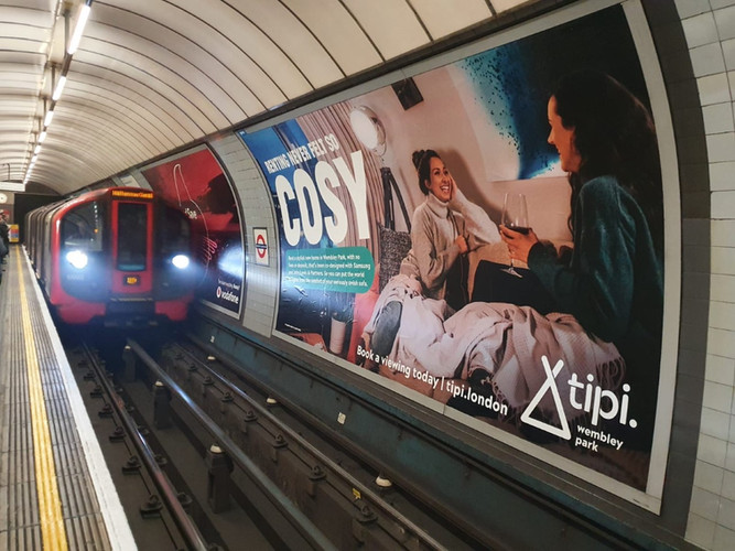 Tipi London. London Underground poster.