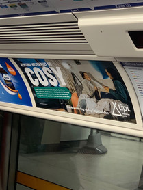 Tipi London. London Underground advertis