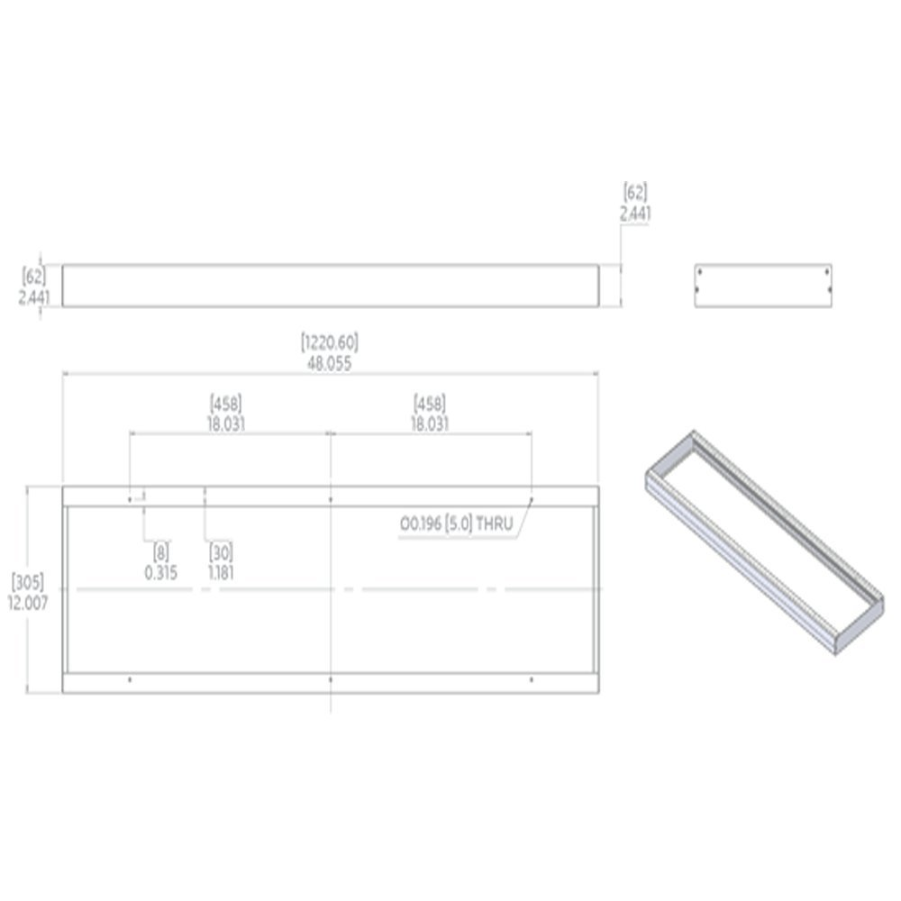 Luxrite Lr24058 Wiring Diagram Diagrams Instructions Led Panel Lr24072 1x4ft Surface Mount Kit Aluminium Frame At