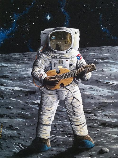 Cuatrista en la Luna