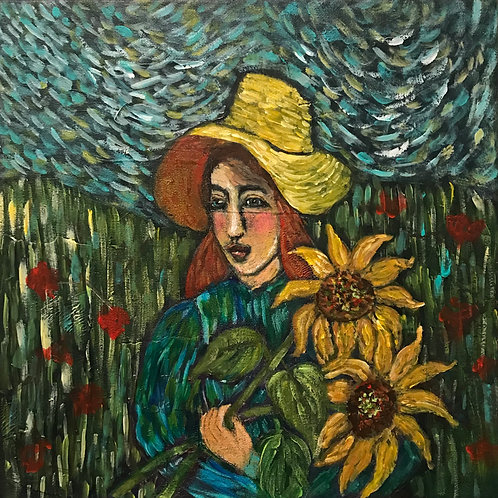 Suzette's Sunflowers for Vincent SOLD