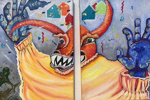 Art by Priscila Vidal, artist Puerto Rico SOLD