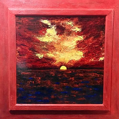 Fire Sunset Rincón Puerto Rico