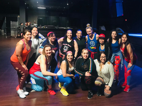 1...2...3...4! Master Zumba class led by 9 amazing instructors raises $1,234 for Puerto Rico in Arli