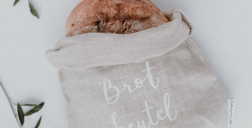Eulenschnitt - Brotbeutel aus Leinen