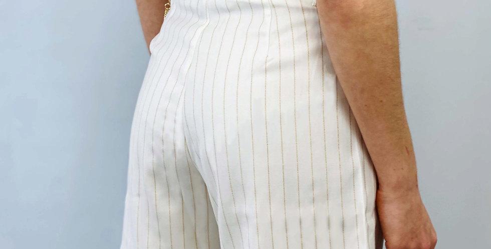 Molly Bracken - Shorts Mit Goldenen Streifen
