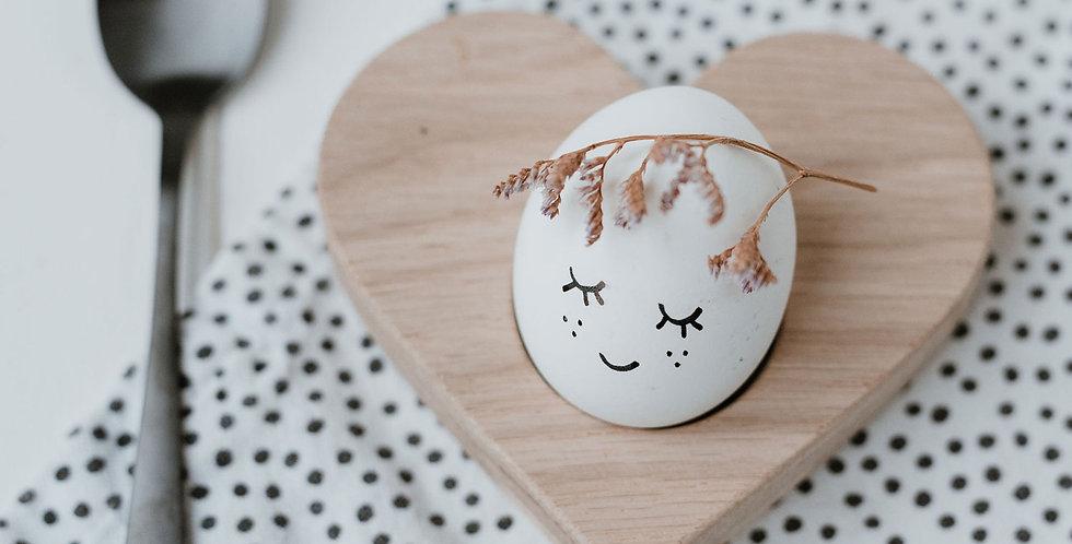 Eulenschnitt - Eierbecher Herz