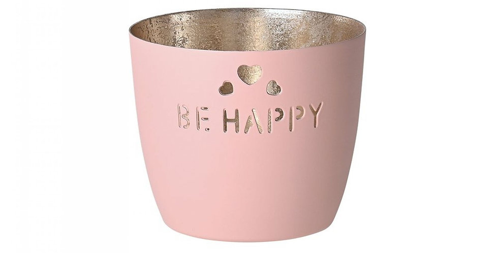 Gift Company - Windlicht Be Happy