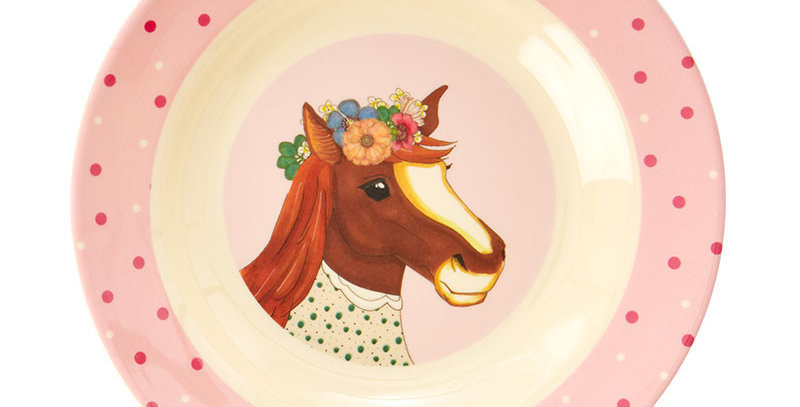 RICE - Melamin Kinderschüssel Pferd