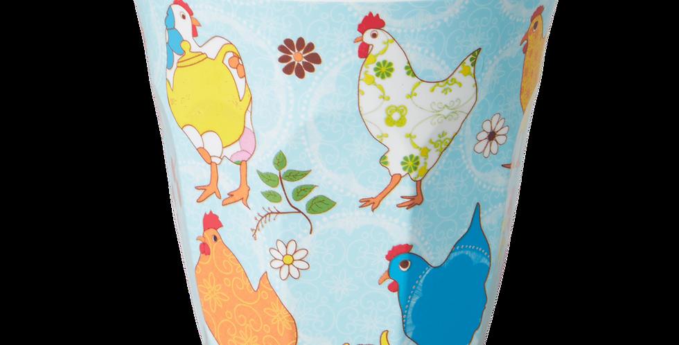 Rice - Melamin Becher Hen Print